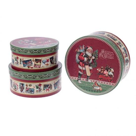 Inart Κουτί Χάρτινο Άγιος Βασίλης 144-0085