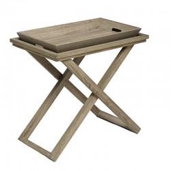 "Inart Σετ τραπέζι ξύλινο 2 τεμαχίων ""Krista"""