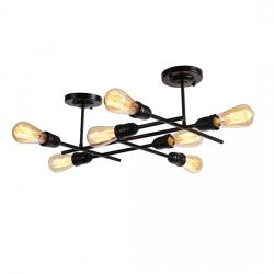 Aca Eπτάφωτο Φωτιστικό Οροφής - Τοίχου Μαύρο EG166597WB