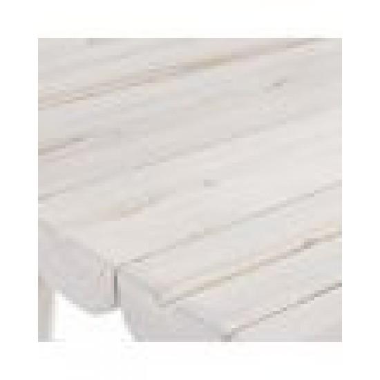 Bizzotto Sahel Ξύλινο Βοηθητικό Τραπεζάκι 35x35x50εκ., Λευκό
