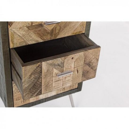 Bizzotto Norwood Ξύλινη Συρταριέρα με 5 Συρτάρια 45x35x120εκ., Φυσικό Χρώμα