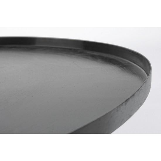 Bizzotto Τραπέζι σαλονιού KALPITA BLACK NICKEL 0746708 80x35cm