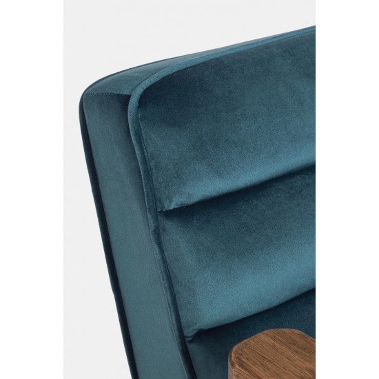 Bizzotto OCTAV BLUE PEACOCK Βελούδινη Πολυθρόνα 60x70x78cm