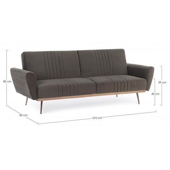 Bizzotto Καναπές- Κρεβάτι JOHNNY Βελούδινος 0735215 210x83x85cm
