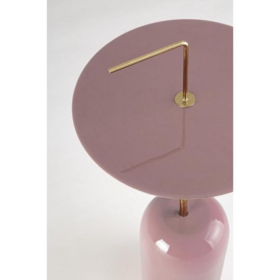 Bizzotto Μεταλλικό Τραπεζάκι TULASI ANTIQUE PINK 0746719 30x67cm