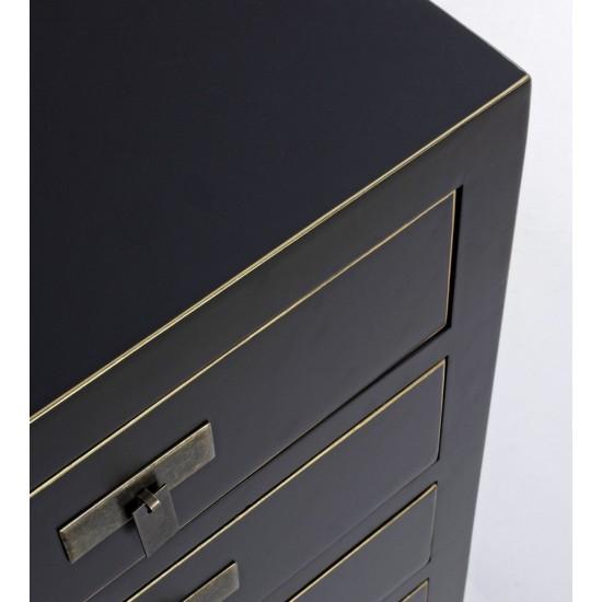 Bizzotto Ξύλινη Συρταριέρα Pechino 0745977 Μαύρο 44x34x76.5cm