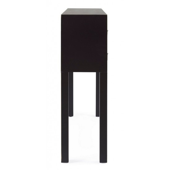 Bizzotto Ξύλινη Κονσόλα Pechino 0745987 Μαύρο 95x25x80cm
