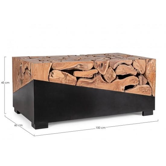 Bizzotto Τραπέζι GRENADA Ξύλινο 0680571 100x60x45cm