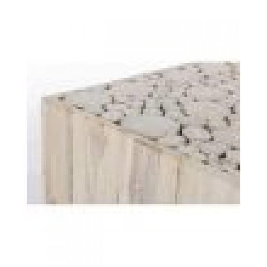 Bizzotto Ermitas Ξύλινο Τραπέζι Σαλονιού Teak 45,5x45,5x45,5εκ., Φυσικό Χρώμα