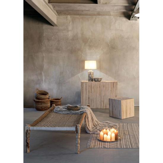 Bizzotto Ermitas Ξύλινη Κονσόλα Teak 109x30x79εκ., Φυσικό Χρώμα