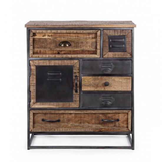 Bizzotto RUPERT Συρταριέρα με 1ντουλάπι και 6 συρτάρια 0746492 70x32x83Y