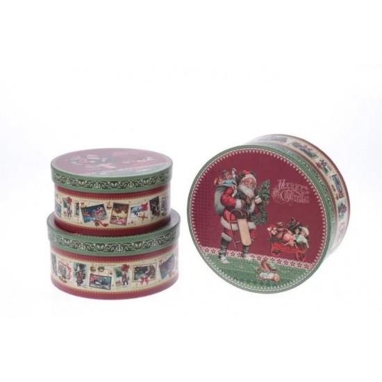 Σετ 3τεμ Χριστουγεννιάτικα Κουτιά 2-70-144-0085 15x15x6cm