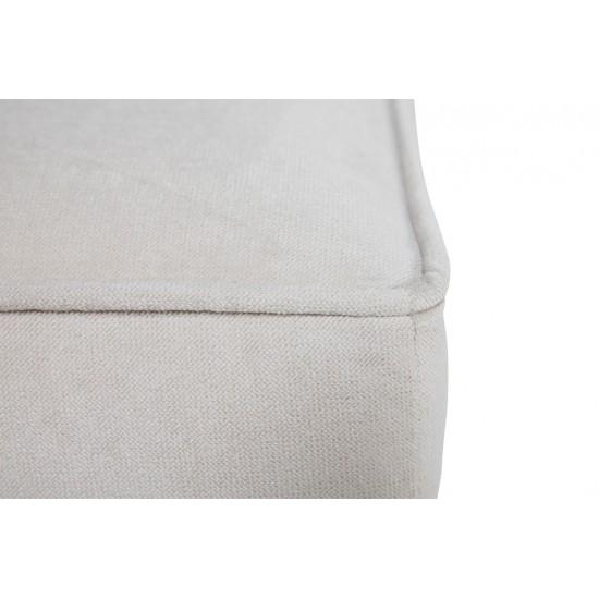 Chesterfield Σκαμπό Σαλονιού Τετράγωνο Βελούδο Μπεζ CHES111 75x70x45cm