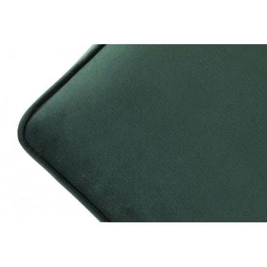 Chesterfield Σκαμπό Σαλονιού Τετράγωνο Βελούδο Σκούρο Πράσινο CHES113 75x70x45cm