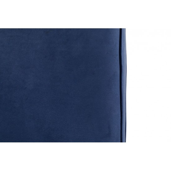 Chesterfield Σκαμπό Σαλονιού Τετράγωνο Βελούδο Μπλε CHES114 75x70x45cm