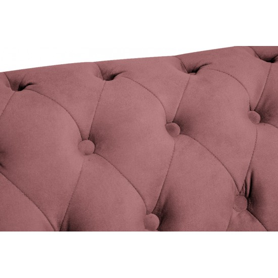 Chesterfiled Καναπές 2θέσιος Βελούδο Σάπιο Μήλο CHES019 150x86x80cm