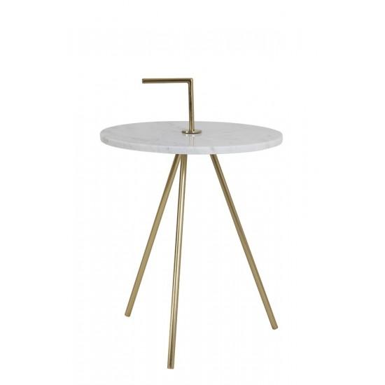 Βοηθητικό Τραπέζι μάρμαρο/μέταλλοMoyuta 36x36x51