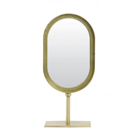 Μεταλλικός Καθρέφτης σε Βάση Χρυσός LURE 16x10x35cm