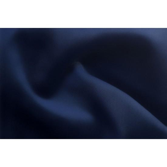 Chesterfield Σκαμπό Σαλονιού Στρογγυλό Βελούδο Μπλε CHES125 80x80x32cm
