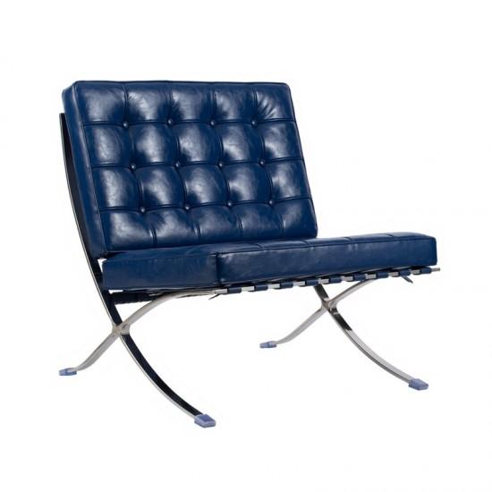 Artekko Πολυθρόνα δερμάτινη με μεταλλικό πόδι 44601