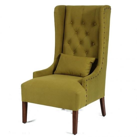 Artekko Καρέκλα με ψηλή πλάτη κίτρινο ύφασμα 36893-YELLOW