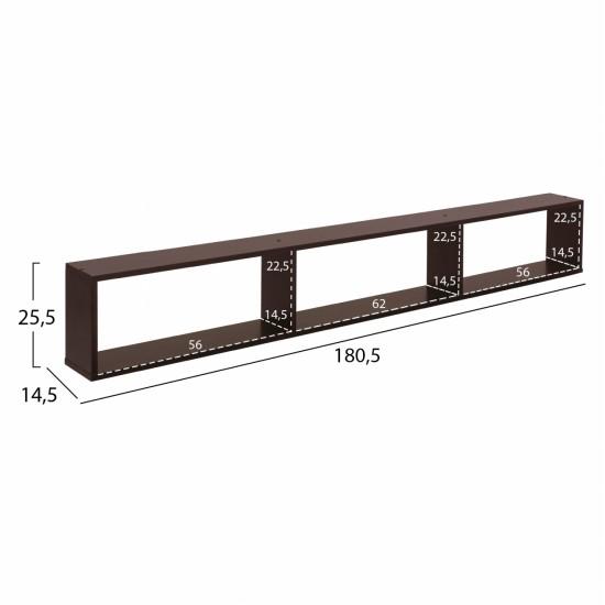 ΣΥΝΘΕΣΗ ΤΗΛΕΟΡΑΣΗΣ CHARLIZE WENGE HM2253.01 180,5x32x155,5 εκ.