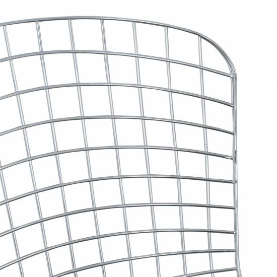 ΚΑΡΕΚΛΑ ΜΕΤΑΛΛΙΚΗ ΑΣΗΜΙ IRENE HM8009.100 60x62,5x81cm