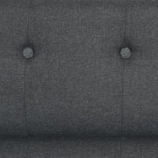 ΚΑΝΑΠΕΣ 3ΘΕΣΙΟΣ CURTIS HM3070.01 ΓΚΡΙ ΥΦΑΣΜΑ ΜΕ ΦΥΣΙΚΟ ΠΟΔΙ 180x70x95 εκ.