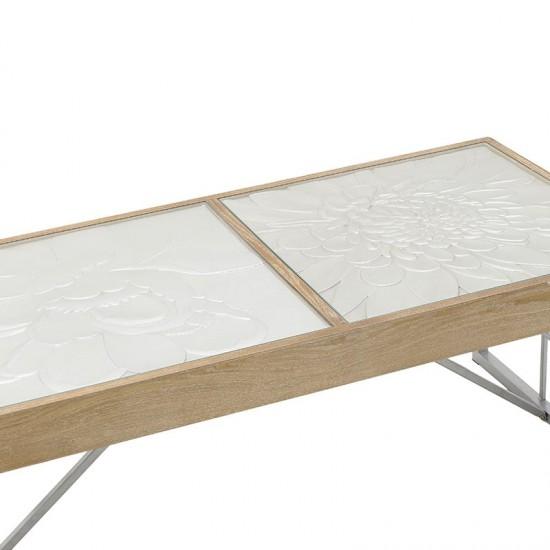 Inart Τραπέζι Σαλονιού 118x60x48cm 3-50-109-0011