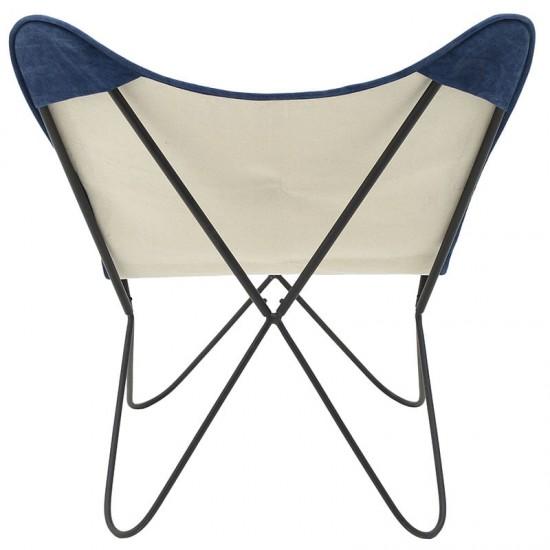 Inart Μεταλλική/Υφασμάτινη Καρέκλα 65x74x85cm 7-50-122-0023