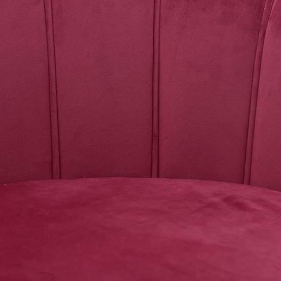 Inart Βελούδινη Πολυθρόνα 78x78x78cm 7-50-045-0018