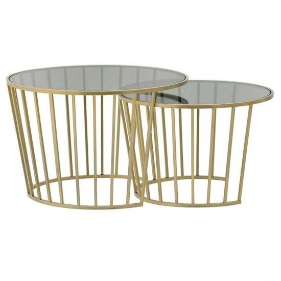 Inart Τραπέζι Σαλονιού Σετ Των 2 0x0x0cm 3-50-954-0084