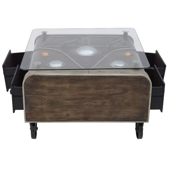 Inart Τραπέζι Σαλονιού 83x80x52cm 3-50-479-0077