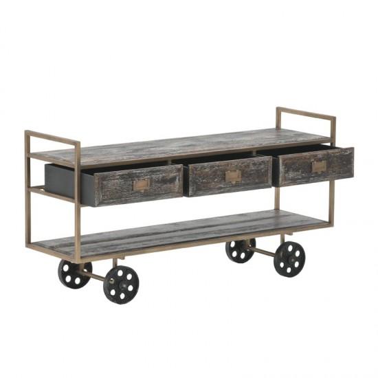 Inart Τραπέζι Σαλονιού 120x36x62cm 3-50-092-0132