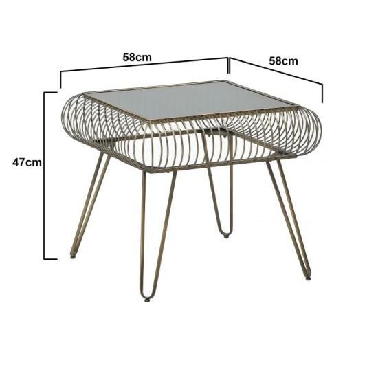 Inart Τραπέζι Σαλονιού 58x58x50cm 3-50-153-0022