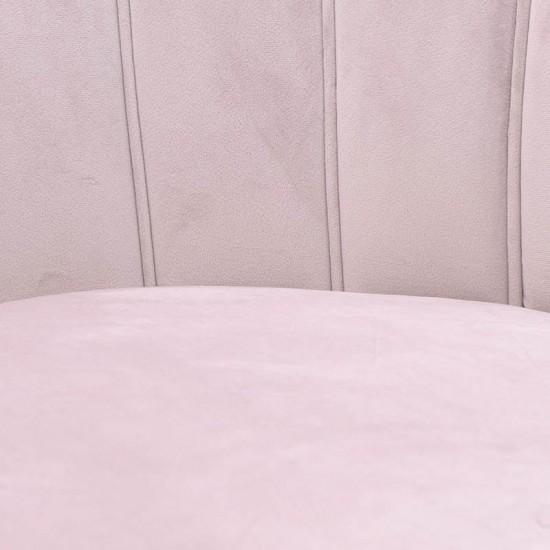 Inart Βελούδινη Πολυθρόνα 78x78x78cm 7-50-045-0020