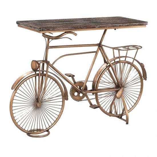 Inart Κονσόλα Ποδήλατο 117x38x64cm 3-50-092-0127