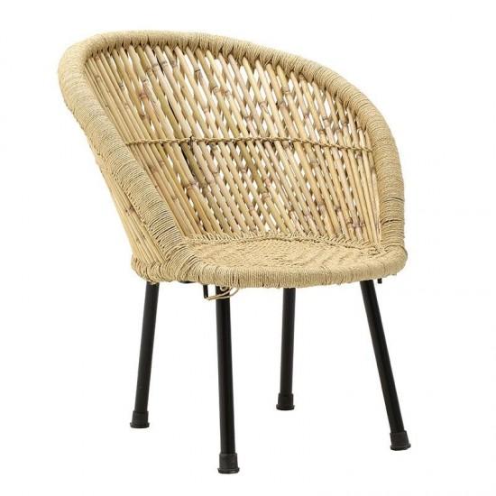 Inart Καρέκλα Μπαμπού 63x61x74cm 3-50-492-0006