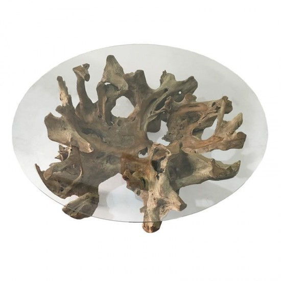 Inart Τραπέζι Σαλονιού 90x90x50cm 3-50-722-0019