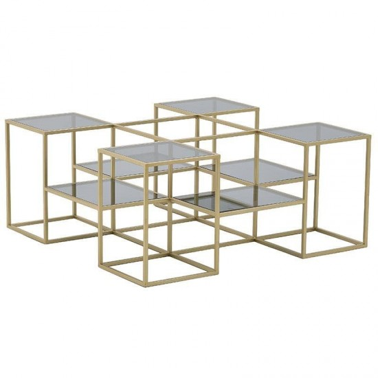 Inart Τραπέζι Σαλονιού 100x100x43cm 3-50-954-0094