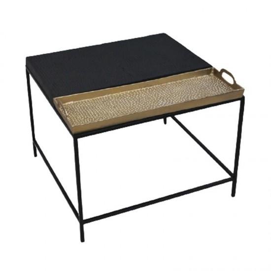 Inart Τραπέζι Σαλονιού 62x62x44cm 3-50-983-0005