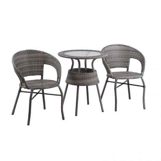 Inart Σετ Τραπέζι Και 2 Καρέκλες 0x0x0cm 6-50-715-0002