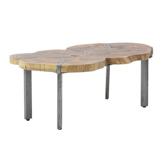 Inart Ξύλινο/Mεταλλικό Τραπέζι 106x65x45cm 7-50-053-0007