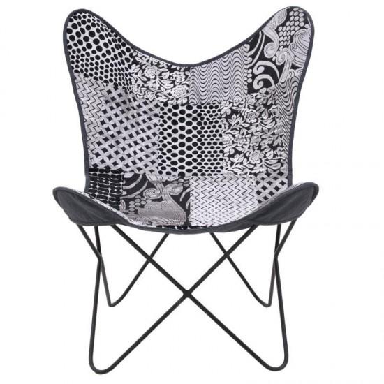Inart Μεταλλική/Υφασμάτινη Καρέκλα 65x74x85cm 7-50-122-0027