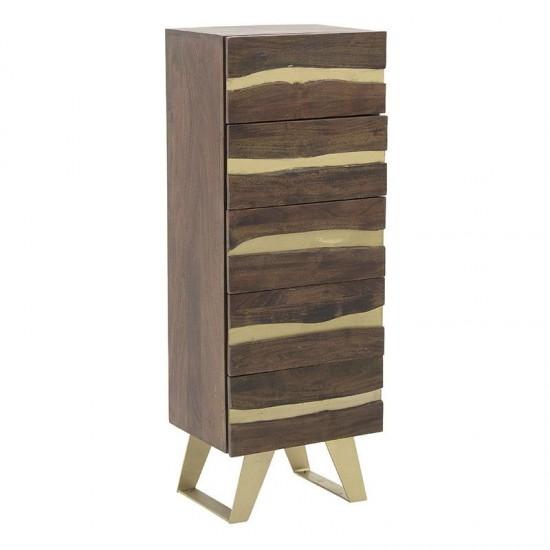 Inart Ξύλινη Συρταριέρα 45.5x35.5x125cm 7-50-350-0004