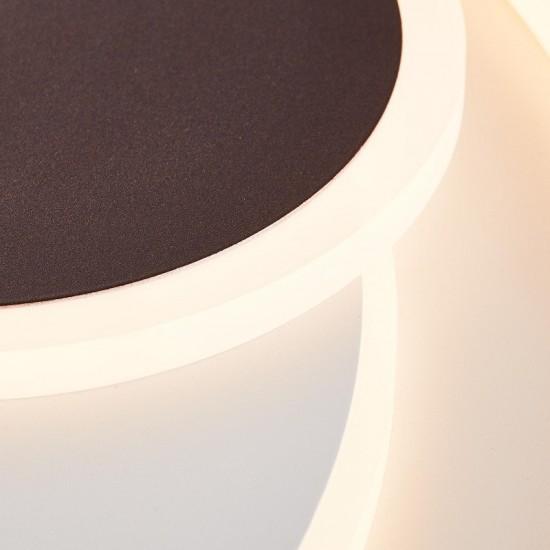 Brilliant  Circulon Φωτιστικό Οροφής LED 48W CCT+DIM Σε Λευκό Και Καφέ Χρώμα