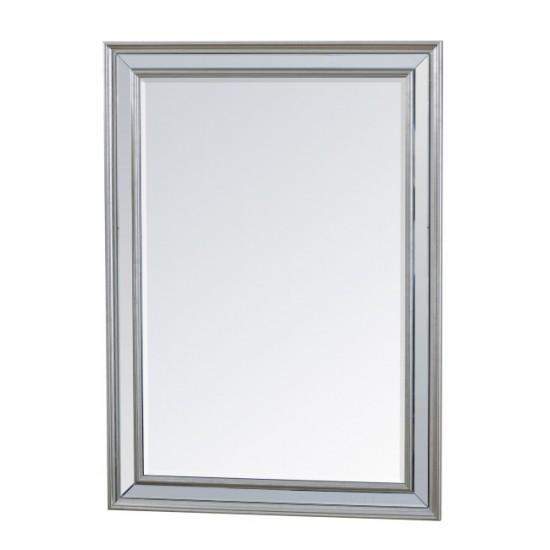 Καθρέπτης 75X105cm με κορνίζα καθρέπτη, Ασημί χρ.
